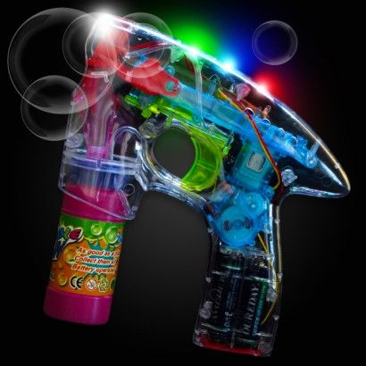 LED Light-up Bubble Gun