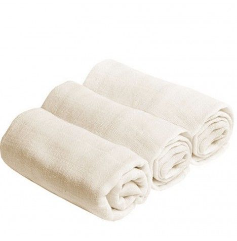 Muslin Squares (Ivory) - 3 x Pack