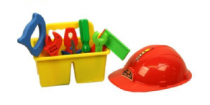 Tool Set, Caddy and Hard Hat