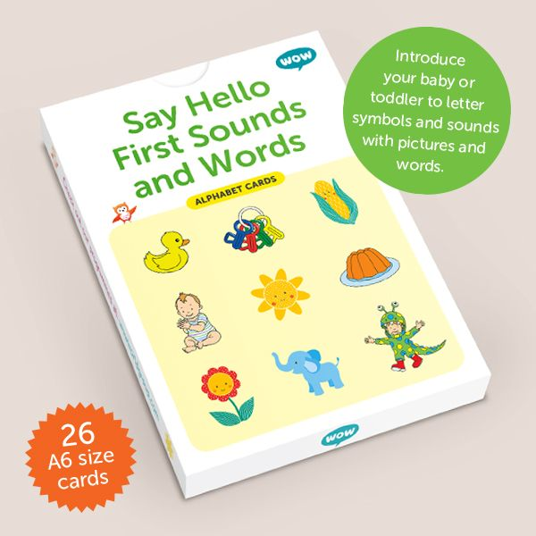 Alphabet Cards 'Say Hello First Sounds & Words' (27 Cards)