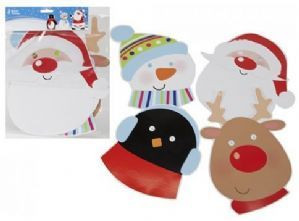 Christmas Masks (Pack of 4 Assorted Designs)