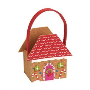 Gingerbread House (Felt Roof) Basket - LIMITED STOCK!