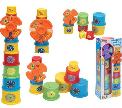 Multi-Coloured Windmill Stacking Cups