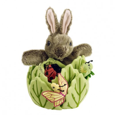 Rabbit-in-a-Lettuce (Hand Puppet)