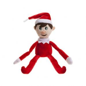 Red Fred the Cheeky Elf (with hang tab)