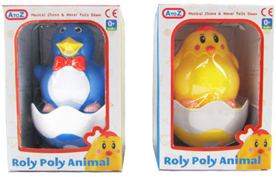 Roly Poly Animal Musical Chime Toy (select your character)